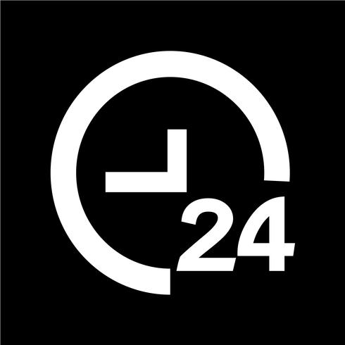 TIME 24 icon vector illustration