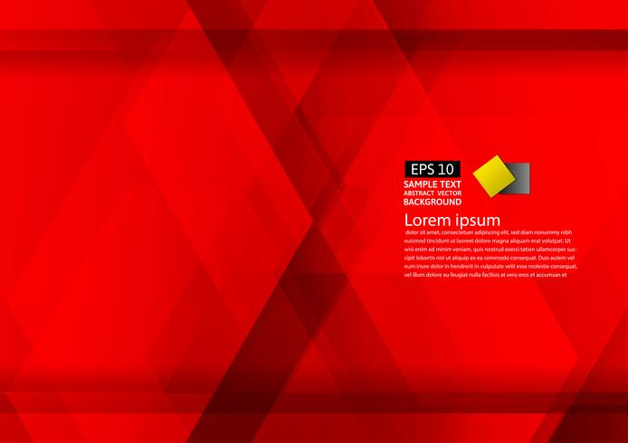 Abstract geometric red background modern design eps10 with copy space , Vector illustration