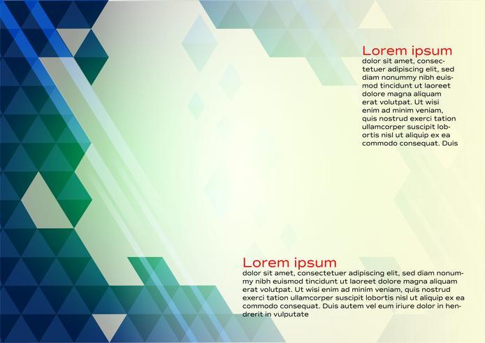 Abstrakter geometrischer blauer Farbhintergrund mit Kopienraum, Vektorillustration für Fahne Ihres Geschäfts