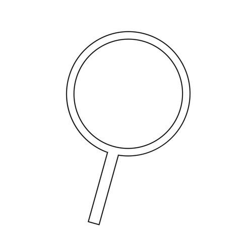 Recherche icône illustration vectorielle vecteur