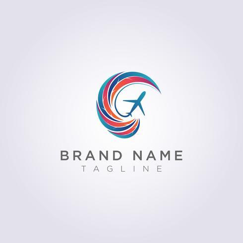 Logo ontwerp Gecombineerde cirkelvormige bladeren met abstracte vormen en vlakken voor uw bedrijf of merk