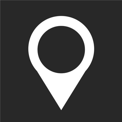 Mapa puntero pin icono ilustración vectorial