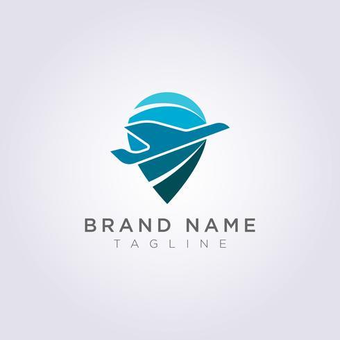 Diseño de logotipo Planos y símbolos de destino combinados para su negocio o marca