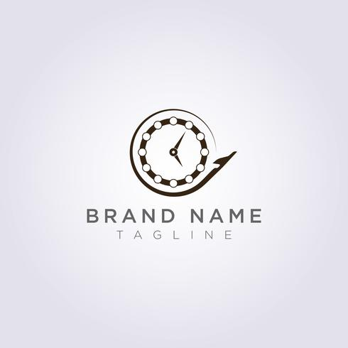 Conception de logo d'avion qui tourne autour de l'horloge pour votre entreprise ou votre marque