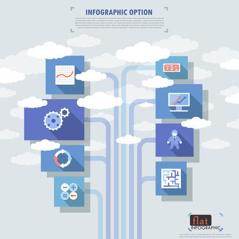 Banner di opzioni infografica piatta