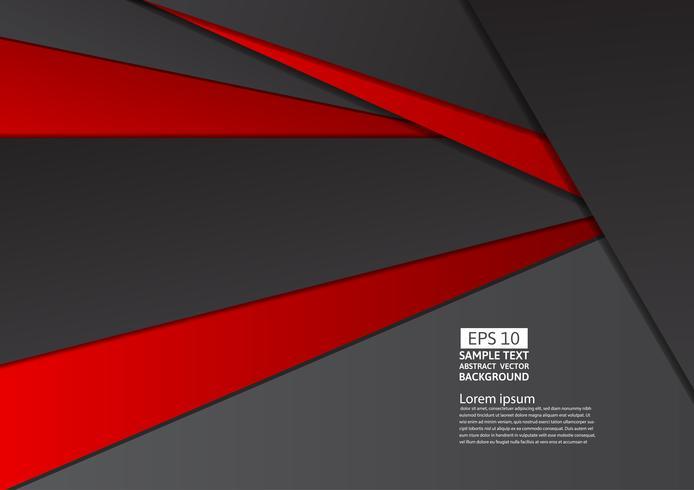 Geometrische abstracte rode en zwarte kleur als achtergrond met exemplaar ruimte, Vectorillustratie eps10