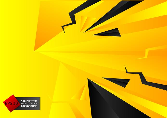 Abstracte geometrische zwarte en gele kleurenachtergrond met exemplaar ruimte, Vectorillustratie eps10