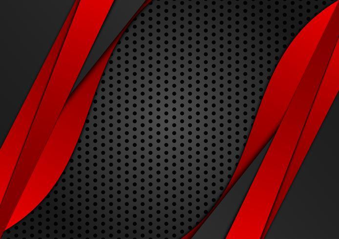Cor vermelha e preta geométrica abstrata do fundo. Ilustração vetorial vetor