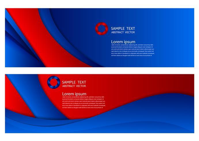 blauwe en rode kleur geometrische abstracte achtergrond met kopie ruimte, Vector illustratie voor de banner van uw bedrijf