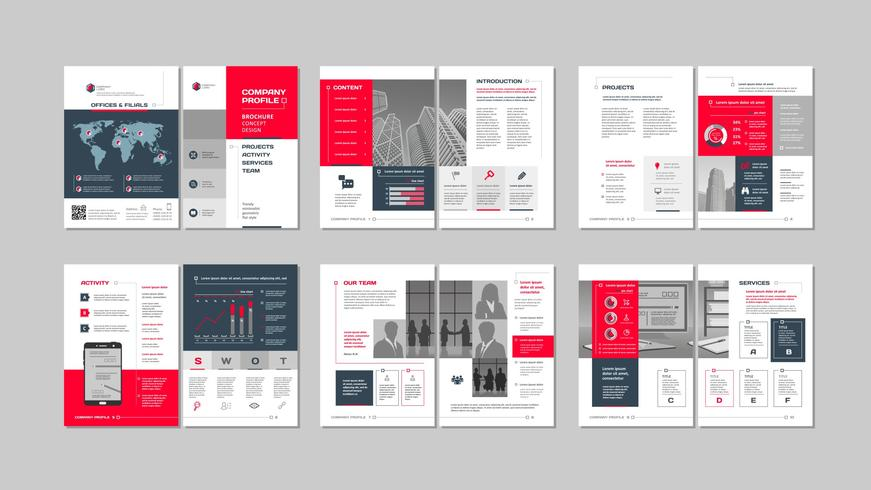 Brochure creative design.  vector