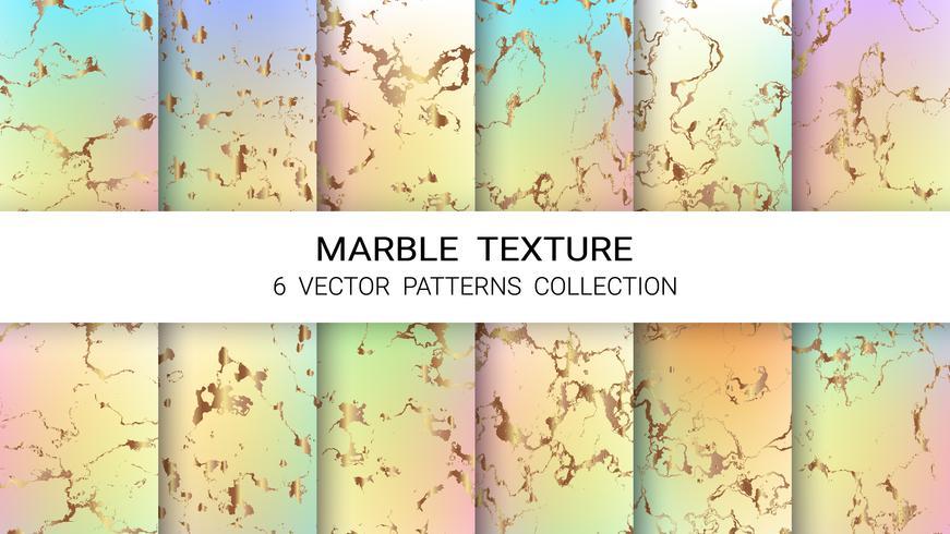 Marmorbeschaffenheit, erstklassiger Satz der Vektor-Muster-Sammlung, abstrakte Hintergrund-Schablone.