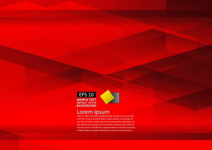 Abstract geometrisch rood modern ontwerp eps10 als achtergrond met exemplaar ruimte, Vectorillustratie