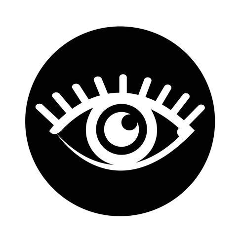 Icono de signo de ojo vector