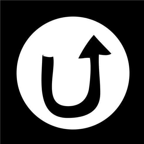 Signe de l'icône de la flèche