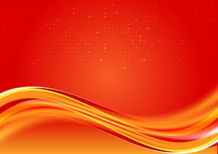 Fondo abstracto hermoso del color rojo de la onda con el espacio de la copia para su diseño moderno del negocio, ejemplo del vector