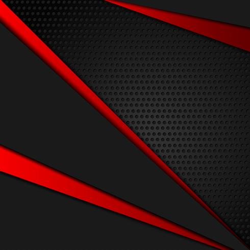 Vector red and black color geometric abstract background