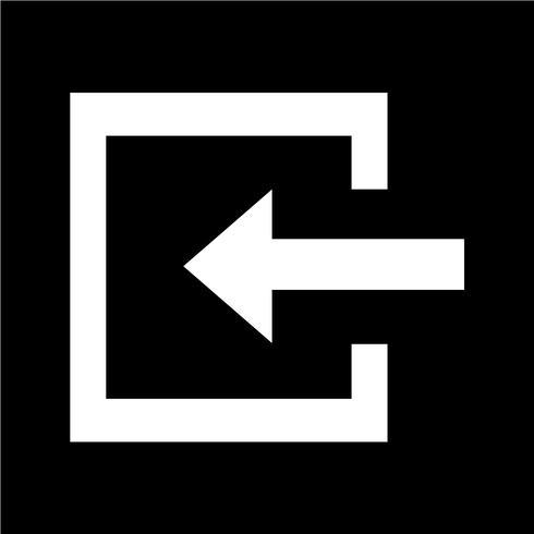 Connexion icône illustration vectorielle