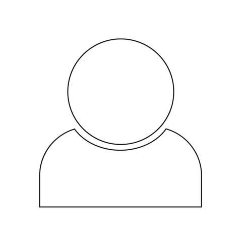 Icono de la gente ilustración vectorial
