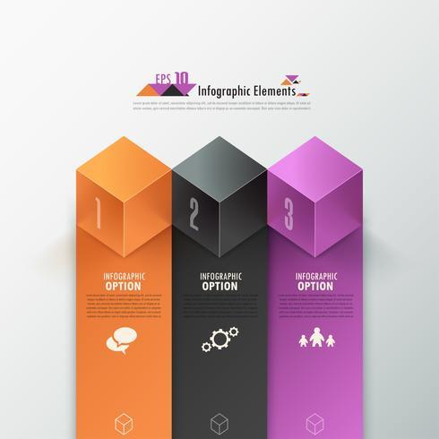 Moderne Infografiken Optionen Banner.