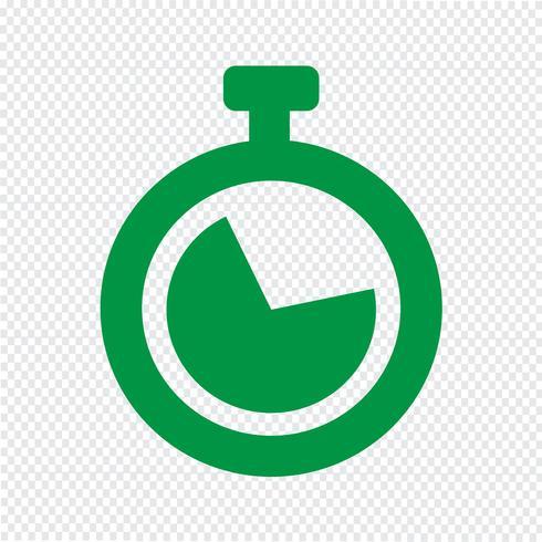 Relógio, ícone, vetorial, ilustração