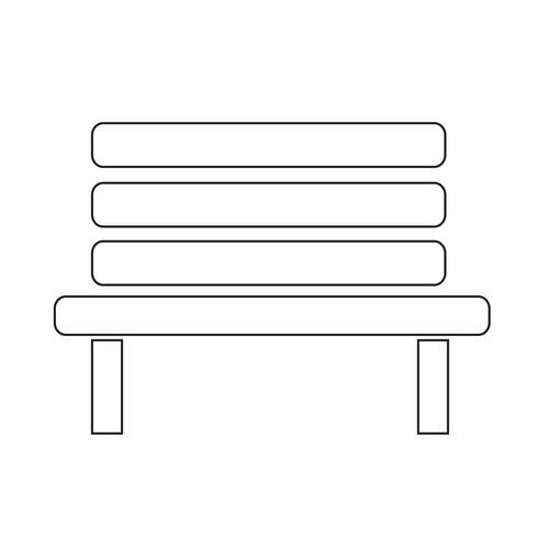 Bänk ikon vektor illustration