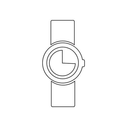 Klocka ikon vektor illustration