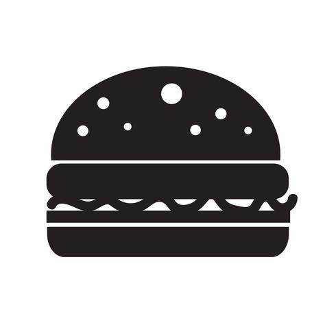 Burger-Symbol-Vektor-Illustration vektor