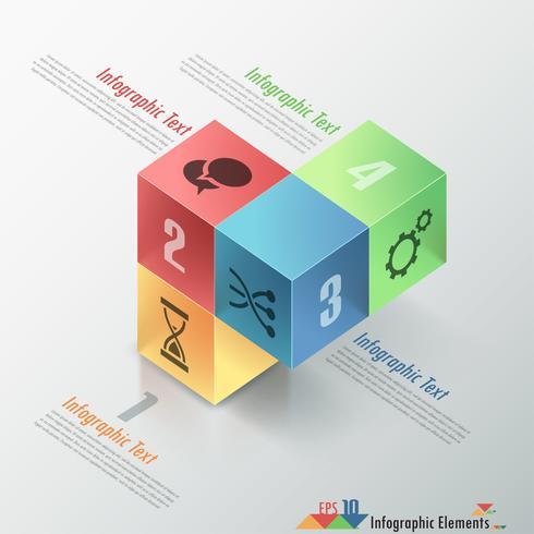 Infografía moderna opciones banner.
