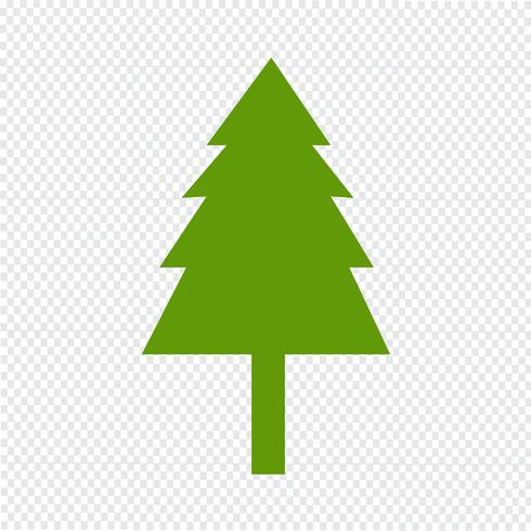 Weihnachtsbaumikonen-Vektorillustration