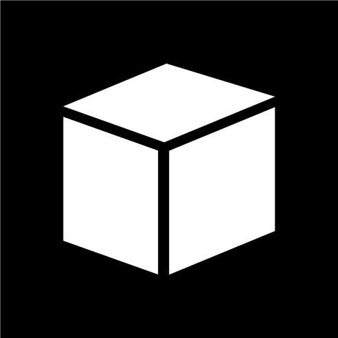 Cube ikon vektor illustration