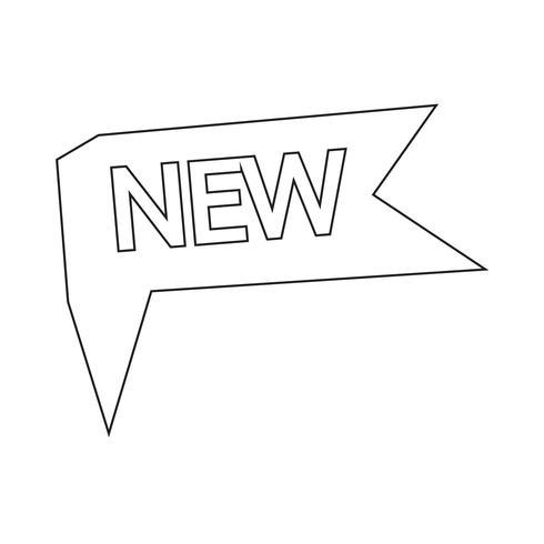 Nouvelle illustration vectorielle d'icône