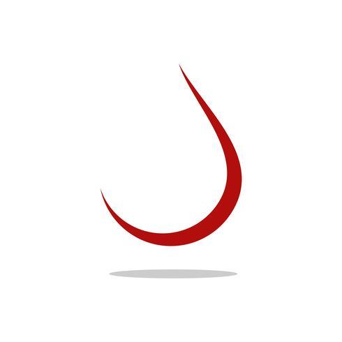 Rotes Tröpfchen Logo Template Illustration Design. Vektor EPS 10.