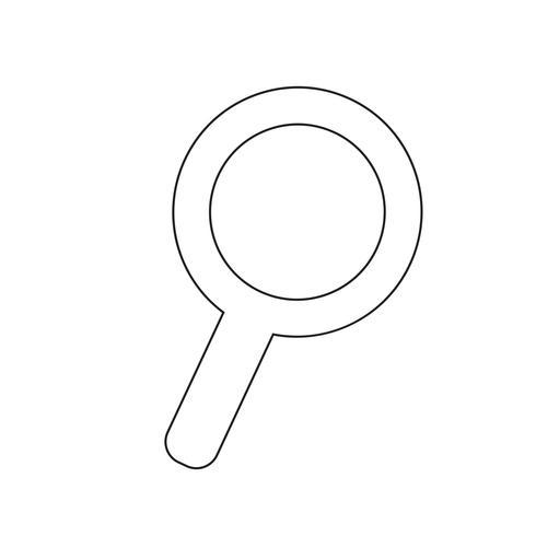 Buscar icono de ilustración vectorial