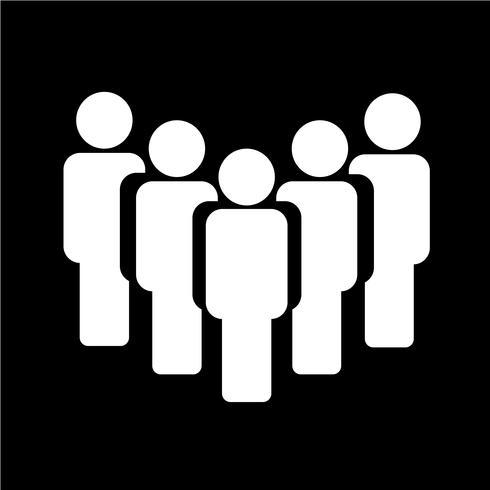 Människor undertecknar ikon vektor illustration