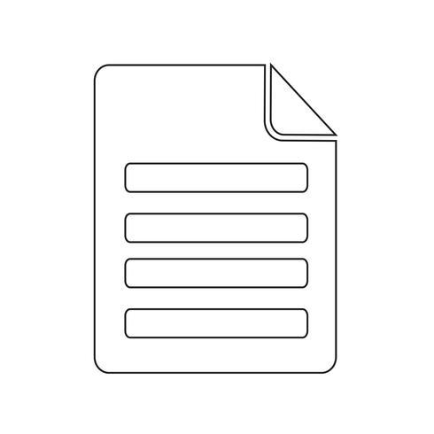 Datei Symbol Vektor-Illustration