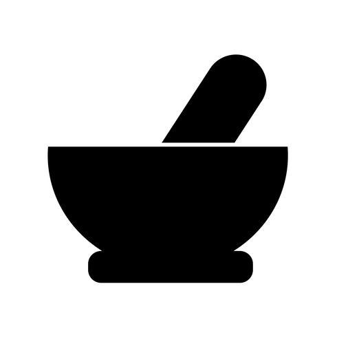 Mörser Stößel Symbol Vektor-Illustration