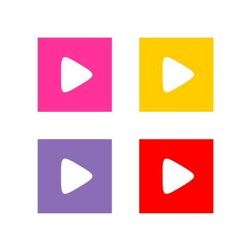 Buntes Spiel-Knopf-APP-Ikonen-Logo Template Illustration Design. Vektor EPS 10.