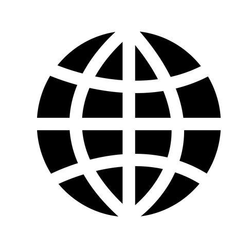 Globe aarde pictogram vectorillustratie