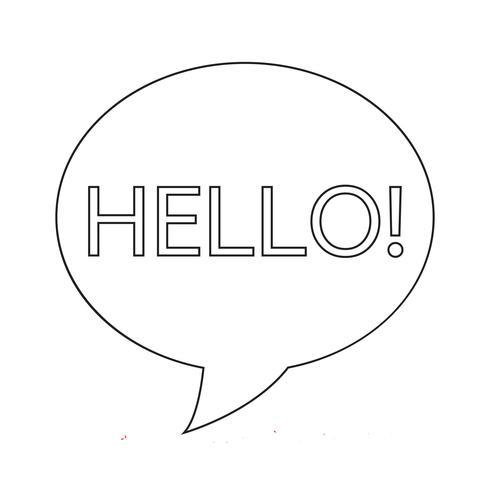 hello word icon vector illustration
