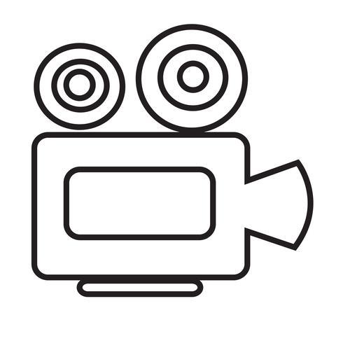 Icono de cámara de cine vector