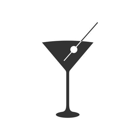 Cocktail Icône Logo Modèle Illustration Design. Vecteur EPS 10.