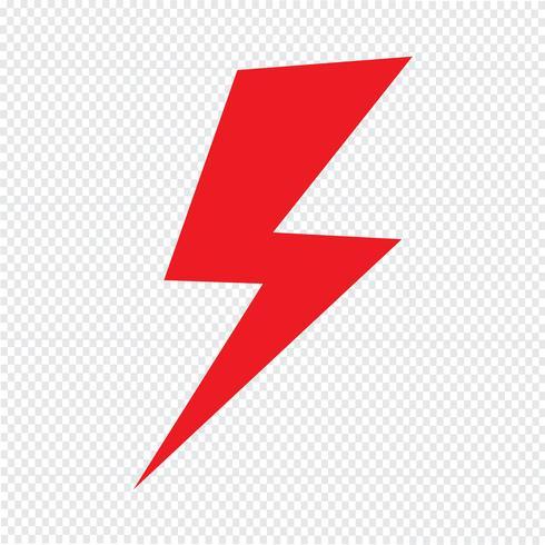Blitz-Symbol Vektor-Illustration