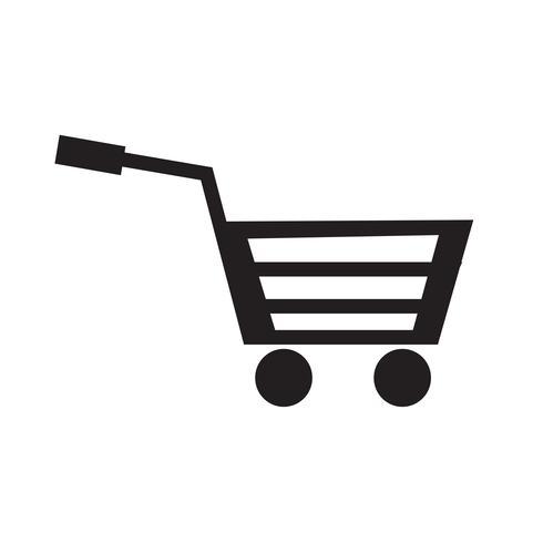 Ilustración de vector de icono de carro de compras