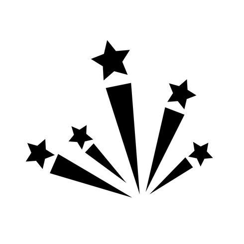 fyrverkeri ikon vektor illustration