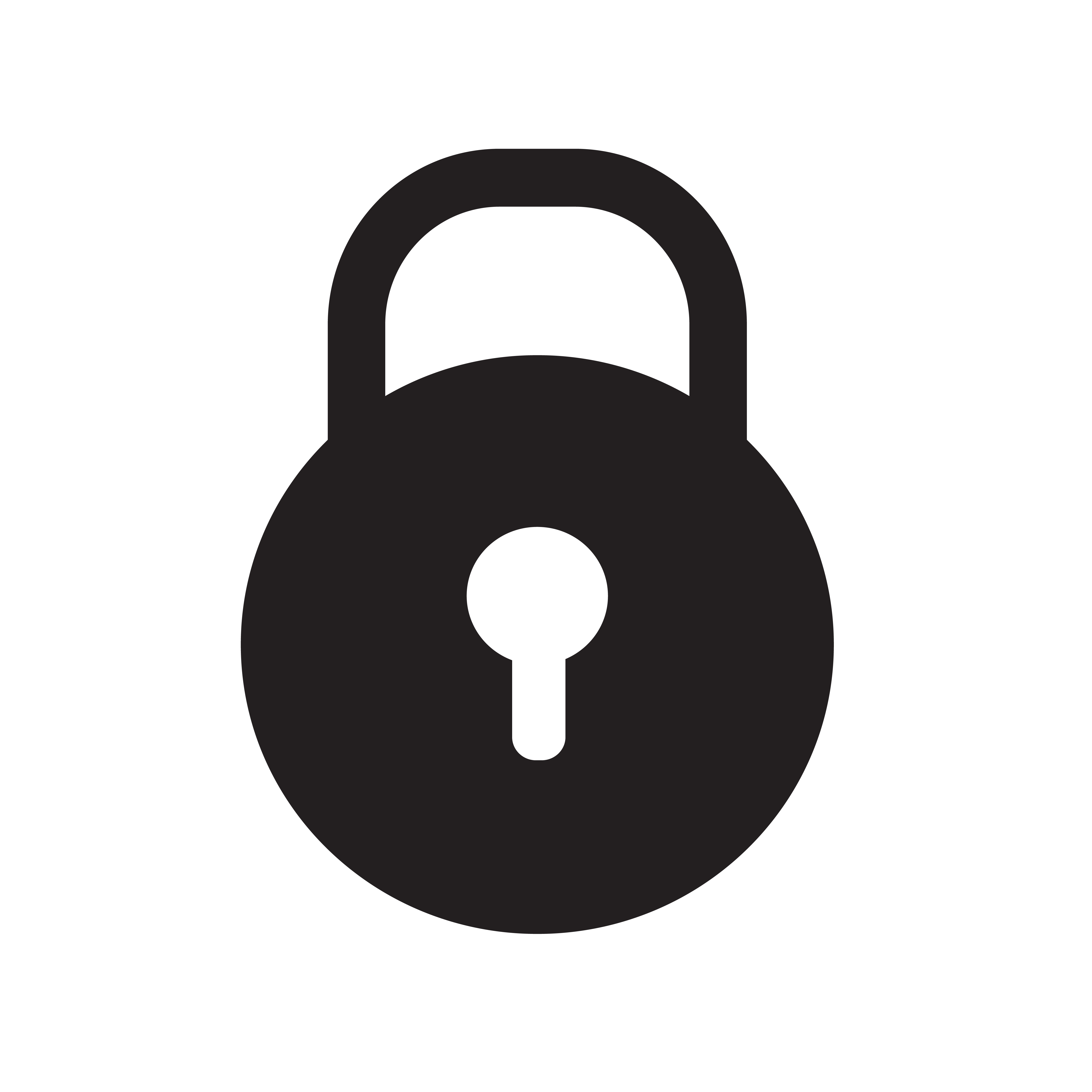 Computer Logo Design Template: Lock Icon Vector Illustration 581777