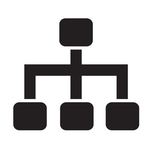 Ilustração em vetor ícone estrutura árvore