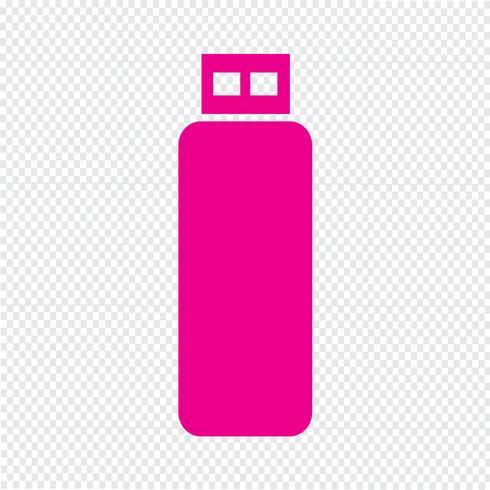 usb flash drive ikon vektor illustration