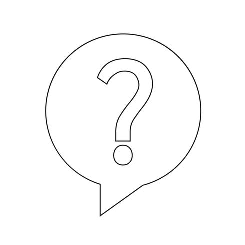 Icono de pregunta vector illustration