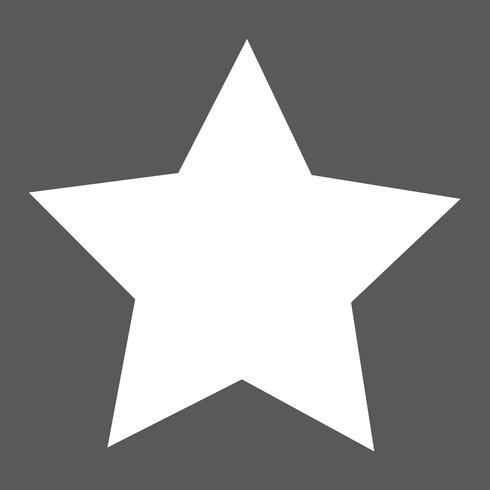 Sternsymbol Vektor-Illustration
