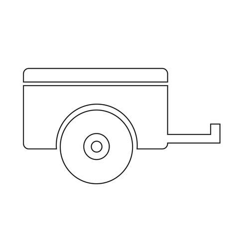 Bil trailer ikon vektor illustration